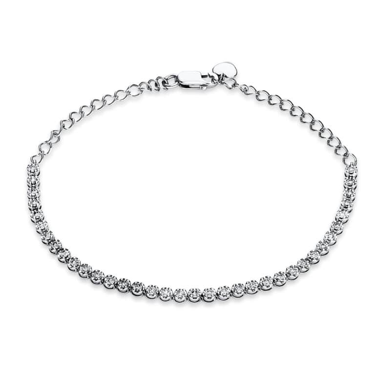 18 kt fehérarany karkötő 36 gyémánttal 5C086W8-1