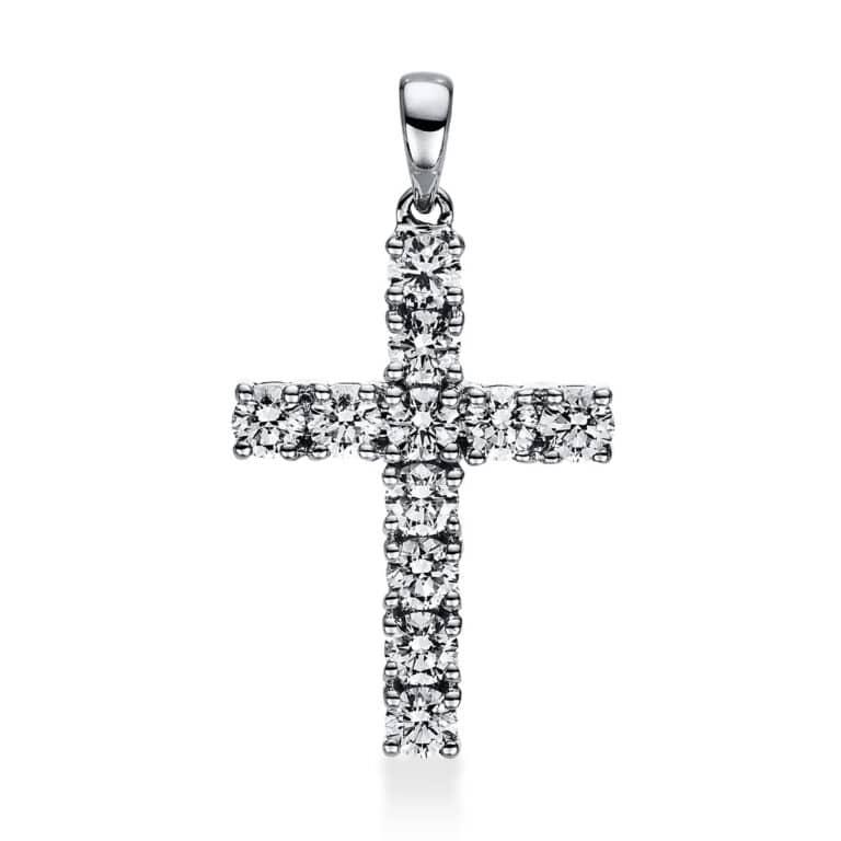 18 kt fehérarany medál 11 gyémánttal 3C965W8-3