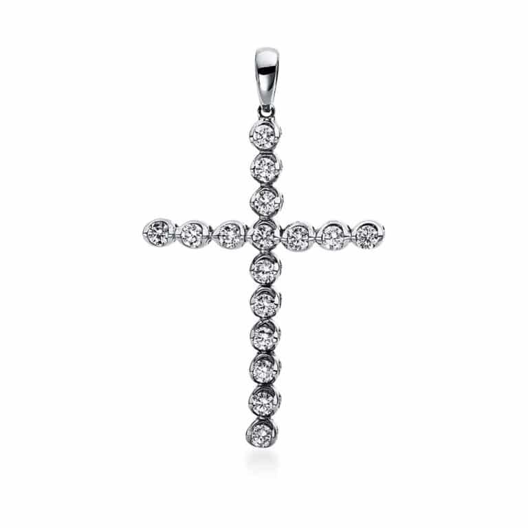 18 kt fehérarany medál 16 gyémánttal 3D273W8-1