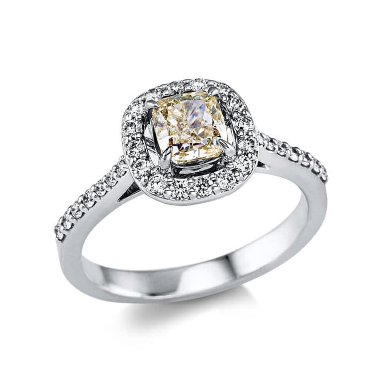 18 kt fehérarany / sárga arany több köves gyűrű 32 gyémánttal 1W132WG852-1