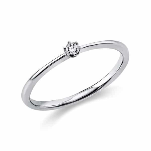 18 kt fehérarany szoliter 1 gyémánttal 1C476W854-14