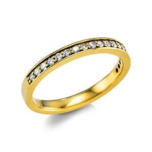 18 kt sárga arany félig köves eternity 19 gyémánttal 1V859G853-1