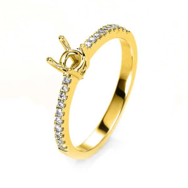 18 kt sárga arany foglalat 20 gyémánttal 1H027G854-2