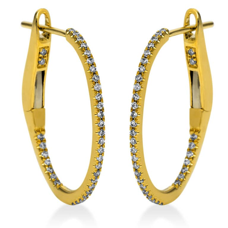 18 kt sárga arany karika és huggie 70 gyémánttal 2F911G8-4