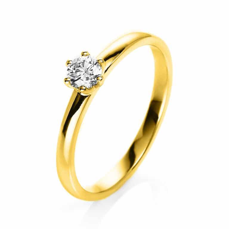 18 kt sárga arany szoliter 1 gyémánttal 1O324G854-2
