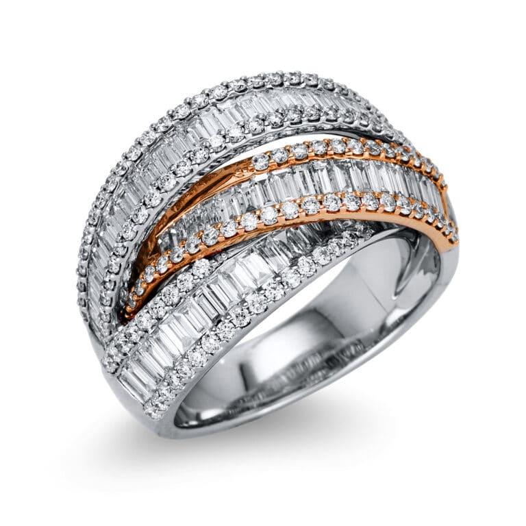 18 kt  több köves gyűrű 177 gyémánttal 1S507WR854-1