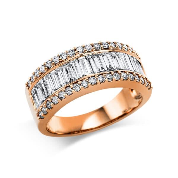 18 kt vörös arany több köves gyűrű 54 gyémánttal 1C984R854-1