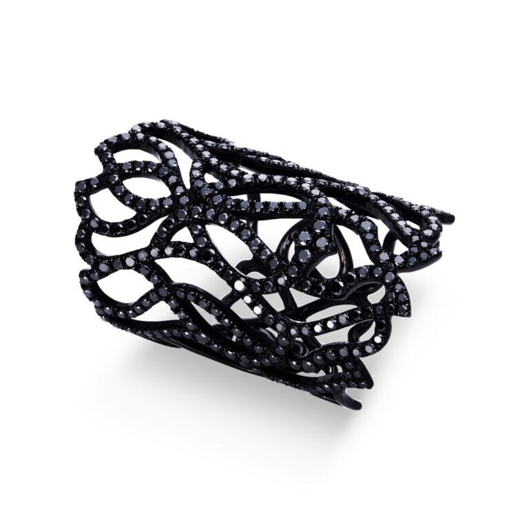 18 kt fehérarany több köves gyűrű 284 gyémánttal 1N796W853-1