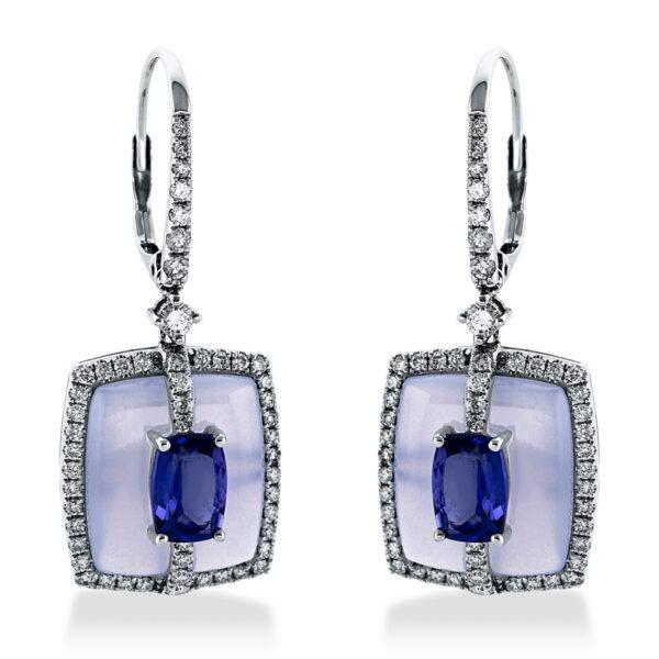 14 kt fehérarany beakasztós 104 gyémánttal