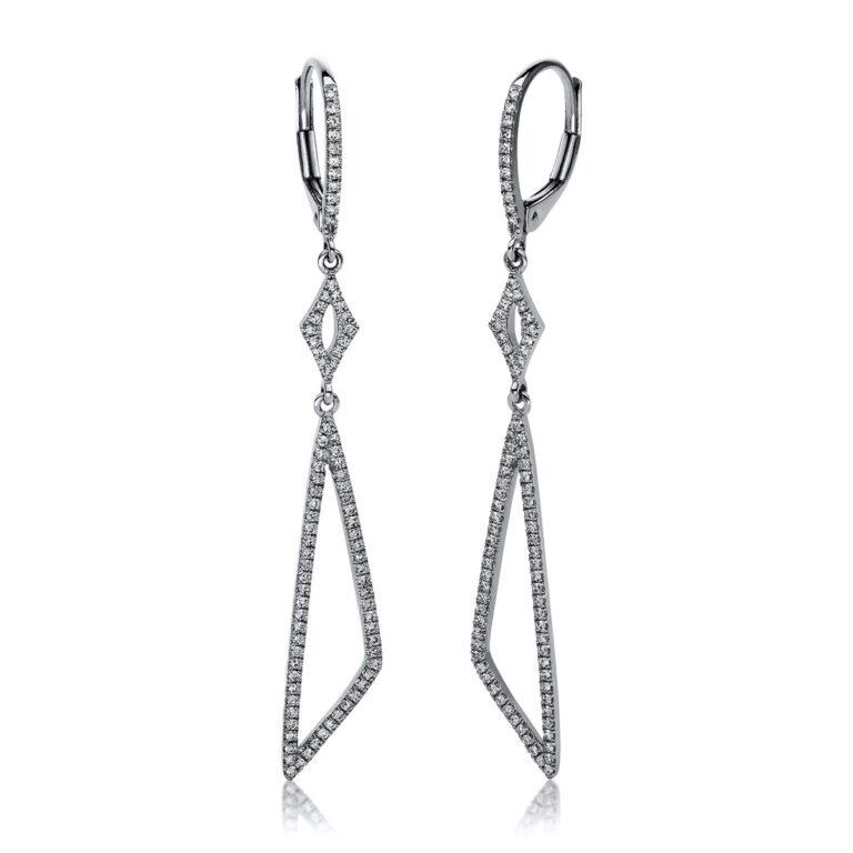 14 kt fehérarany fülbevaló 172 gyémánttal 2E224W4-2