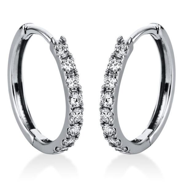 14 kt fehérarany karika és huggie 16 gyémánttal 2J823W4-1