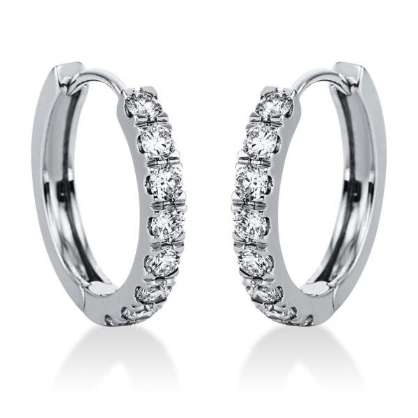 14 kt fehérarany karika és huggie 16 gyémánttal 2J824W4-1