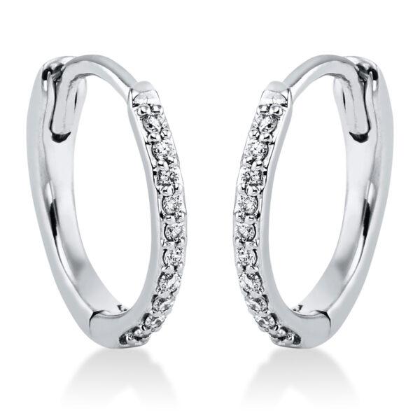 14 kt fehérarany karika és huggie 20 gyémánttal 2J825W4-1