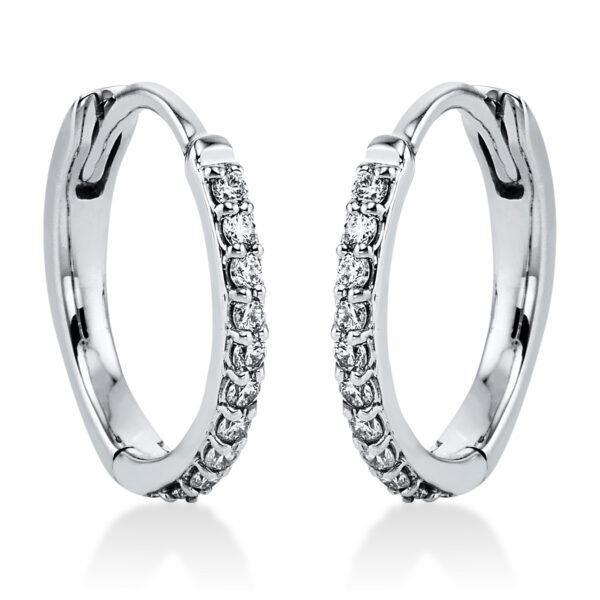 14 kt fehérarany karika és huggie 20 gyémánttal 2J826W4-1