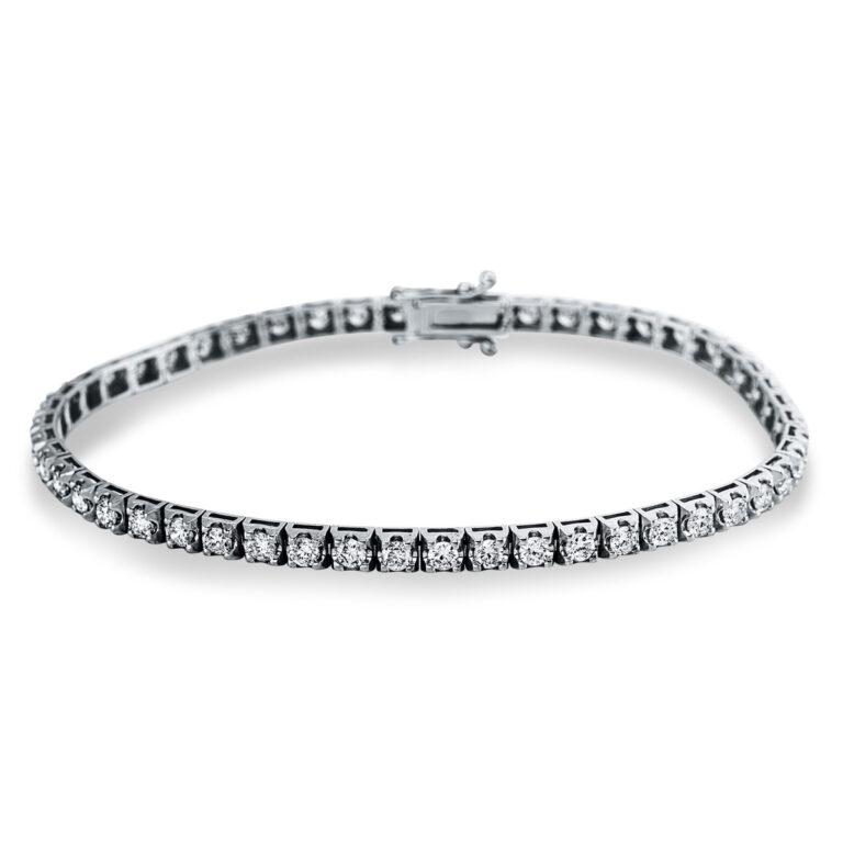 14 kt fehérarany karkötő 50 gyémánttal 5C153W4-1