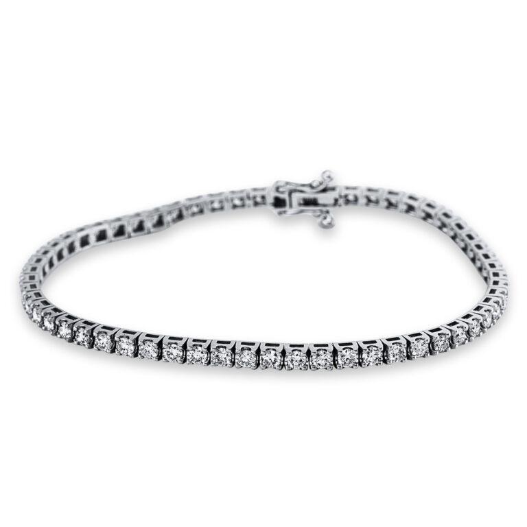 14 kt fehérarany karkötő 58 gyémánttal 5B986W4-2
