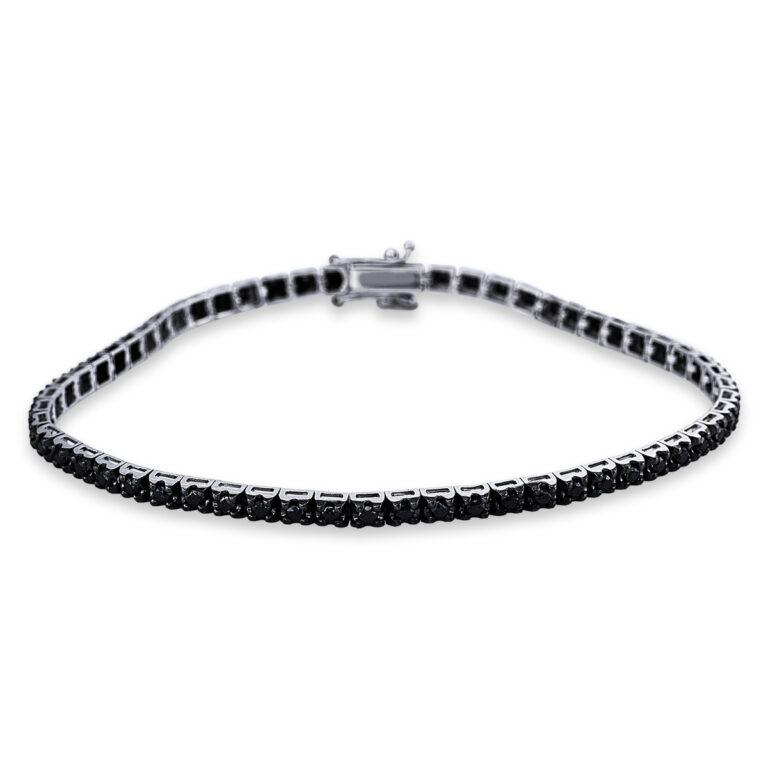 14 kt fehérarany karkötő 59 gyémánttal 5C316W4-1