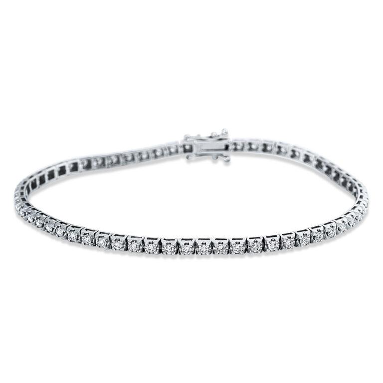 14 kt fehérarany karkötő 59 gyémánttal 5C318W4-1
