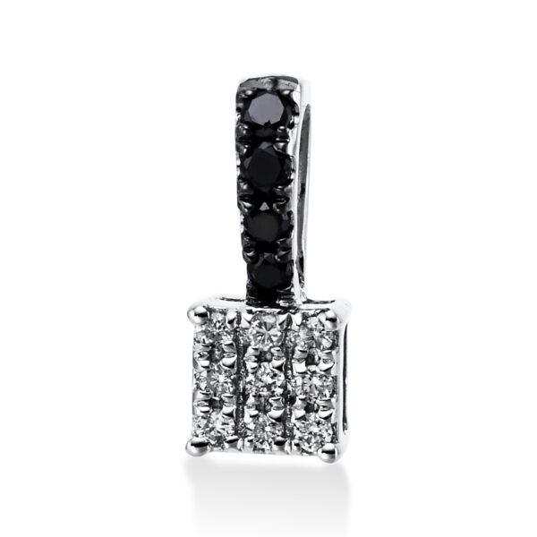 14 kt fehérarany medál 13 gyémánttal 3E205W4-1