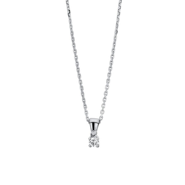 14 kt fehérarany nyaklánc 1 gyémánttal 4A318W4-1