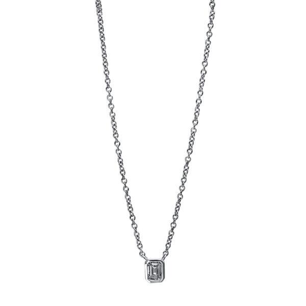 14 kt fehérarany nyaklánc 1 gyémánttal 4E424W4-1