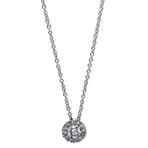 14 kt fehérarany nyaklánc 13 gyémánttal 4G027W4-1