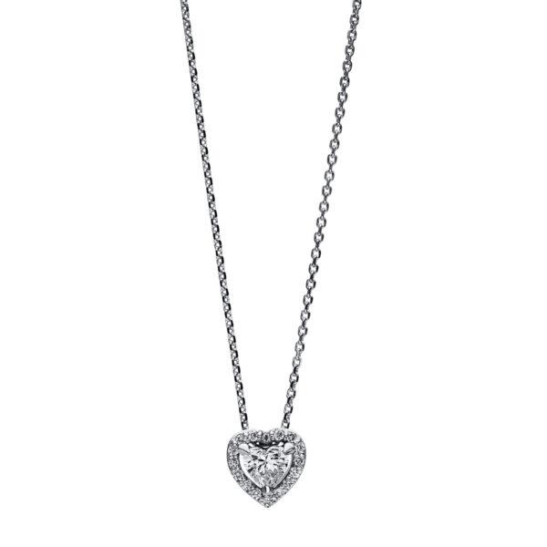 14 kt fehérarany nyaklánc 17 gyémánttal 4F084W4-1