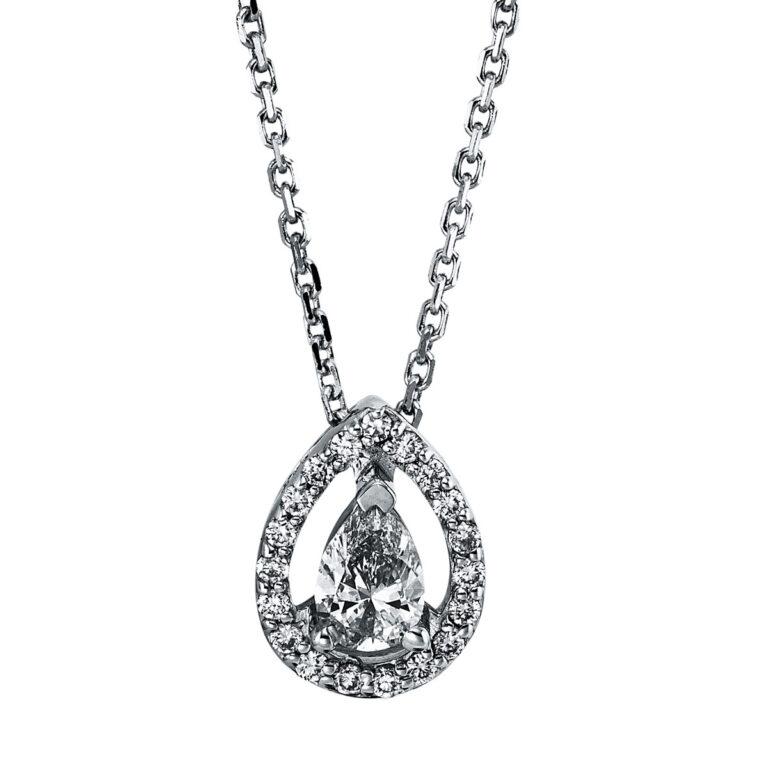 14 kt fehérarany nyaklánc 21 gyémánttal 4G346W4-1