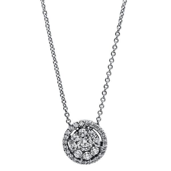 14 kt fehérarany nyaklánc 32 gyémánttal 4E826W4-2