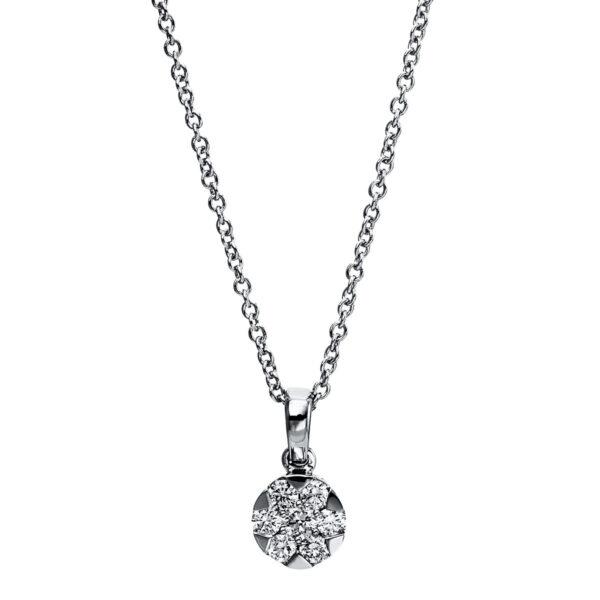 14 kt fehérarany nyaklánc 7 gyémánttal 4G022W4-1