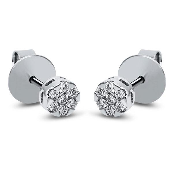 14 kt fehérarany steckeres 14 gyémánttal 2J829W4-1