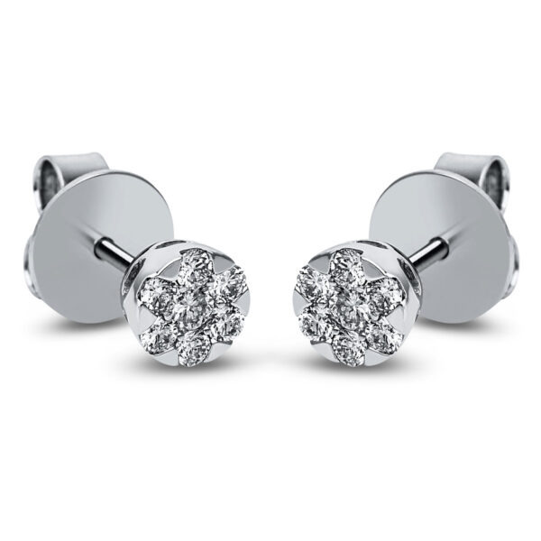 14 kt fehérarany steckeres 14 gyémánttal 2J830W4-1
