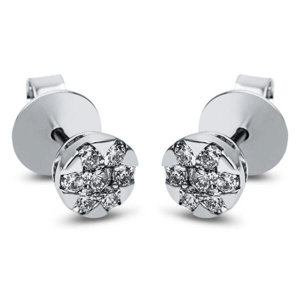 14 kt fehérarany steckeres 14 gyémánttal 2J831W4-1