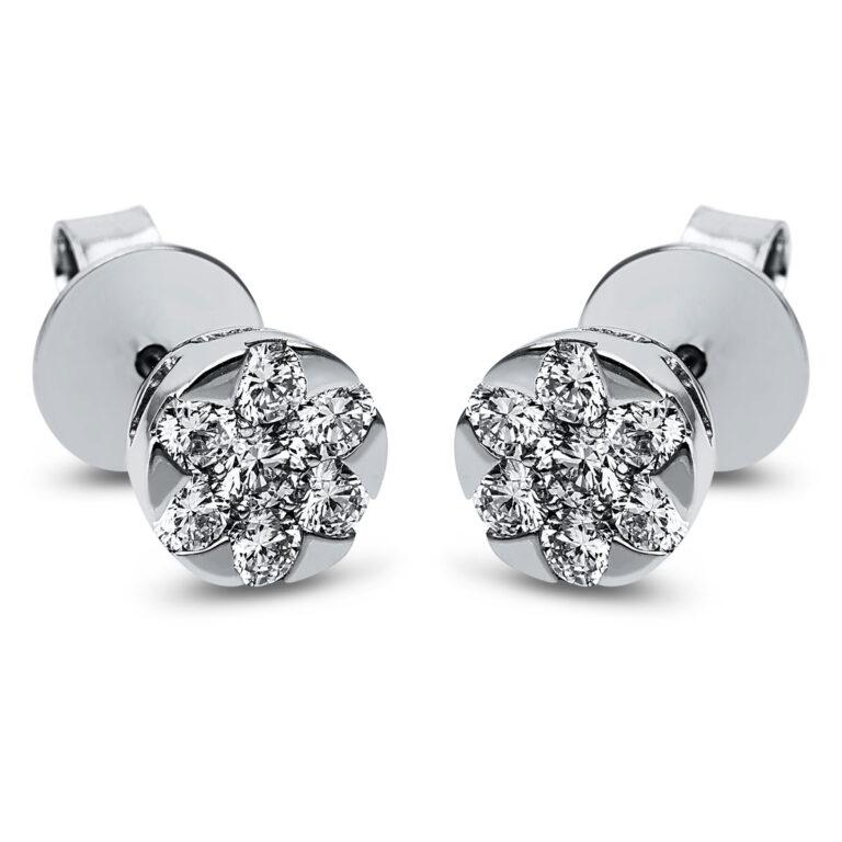 14 kt fehérarany steckeres 14 gyémánttal 2J832W4-1
