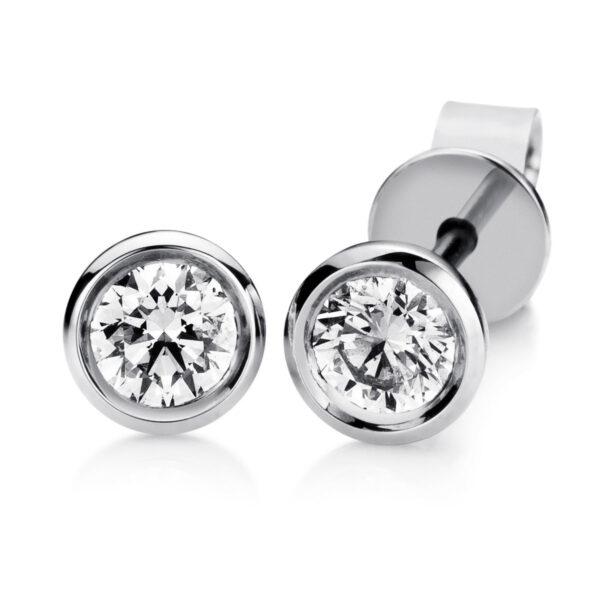 14 kt fehérarany steckeres 2 gyémánttal 2B413W4-1