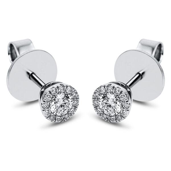 14 kt fehérarany steckeres 26 gyémánttal 2J833W4-1