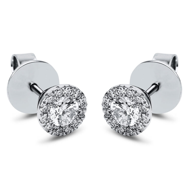 14 kt fehérarany steckeres 26 gyémánttal 2J835W4-1