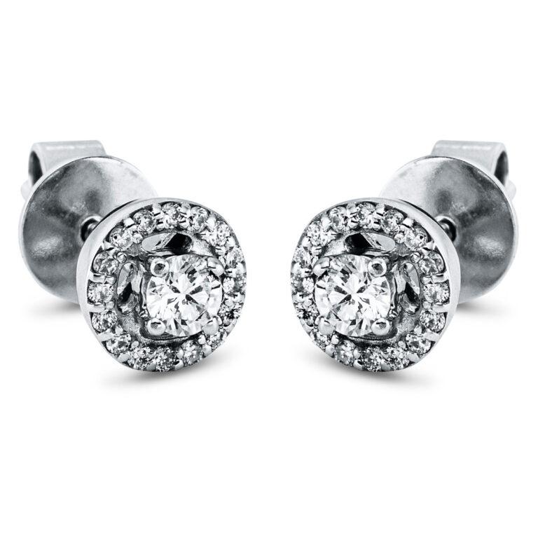 14 kt fehérarany steckeres 34 gyémánttal 2K272W4-1