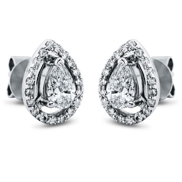 14 kt fehérarany steckeres 40 gyémánttal 2K273W4-3