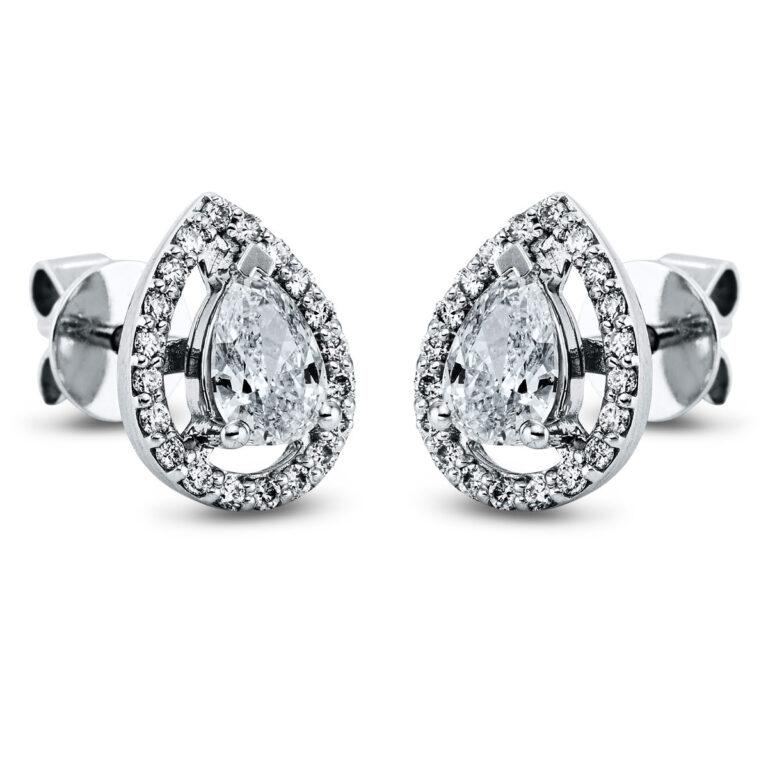 14 kt fehérarany steckeres 42 gyémánttal 2K274W4-1