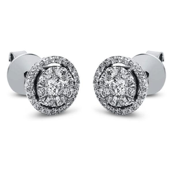 14 kt fehérarany steckeres 64 gyémánttal 2H059W4-2