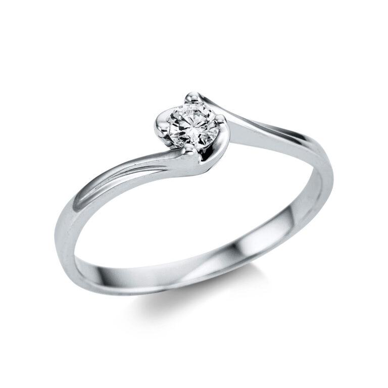 14 kt fehérarany szoliter 1 gyémánttal 1W786W453-1
