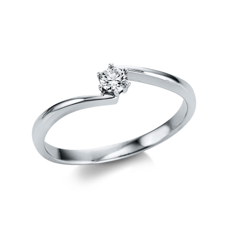 14 kt fehérarany szoliter 1 gyémánttal 1W798W454-1