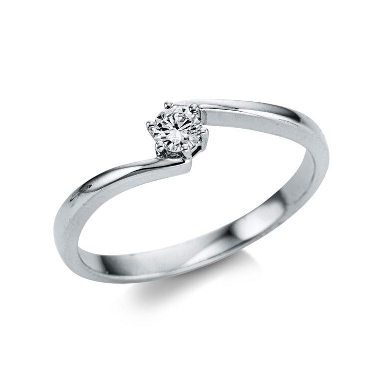 14 kt fehérarany szoliter 1 gyémánttal 1W799W454-1