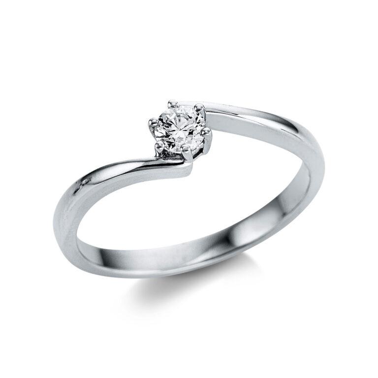 14 kt fehérarany szoliter 1 gyémánttal 1W800W454-1