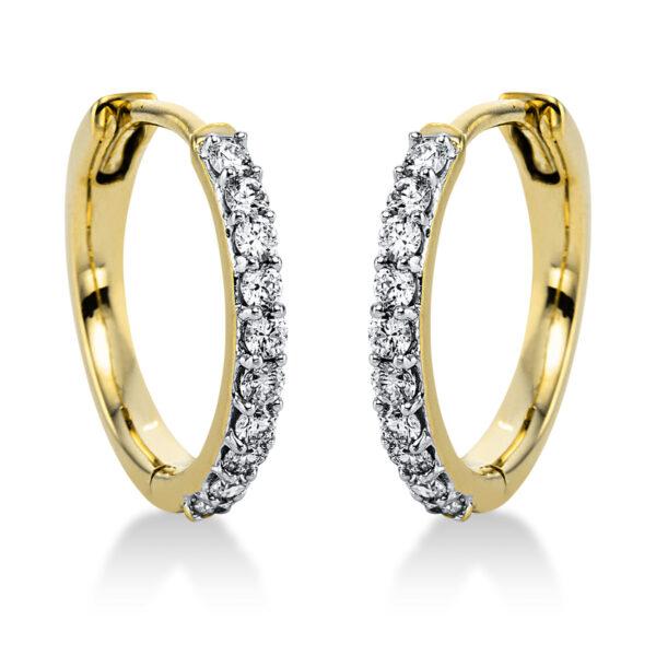 14 kt sárga arany / fehérarany karika és huggie 20 gyémánttal 2J820GW4-1