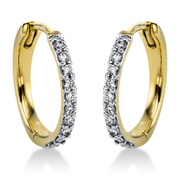 14 kt sárga arany / fehérarany karika és huggie 20 gyémánttal 2J828GW4-1