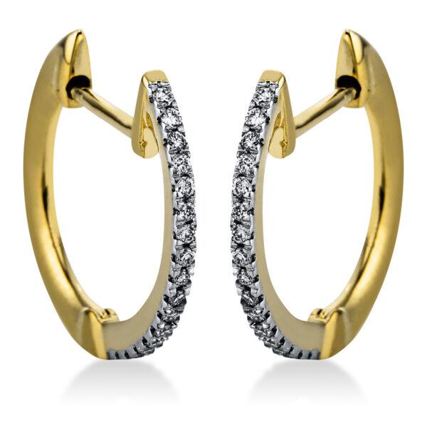14 kt sárga arany / fehérarany karika és huggie 34 gyémánttal 2J814GW4-1