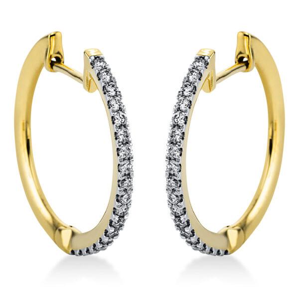 14 kt sárga arany / fehérarany karika és huggie 36 gyémánttal 2J816GW4-1