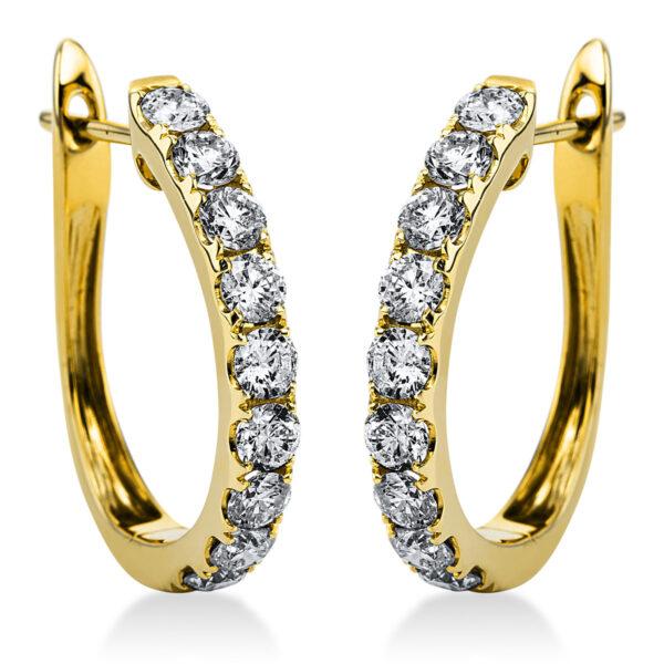 14 kt sárga arany karika és huggie 18 gyémánttal 2I919G4-7